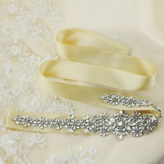 BMbridal Gorgeous Satin Beadings Wedding Sash_20