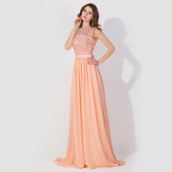 BMbridal A-line Chiffon Tulle Lace Ruffles Bridesmaid Dress_8