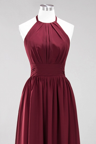 BMbridal Elegant High-Neck Halter Long Affordable Bridesmaid Dresses with Ruffles_65