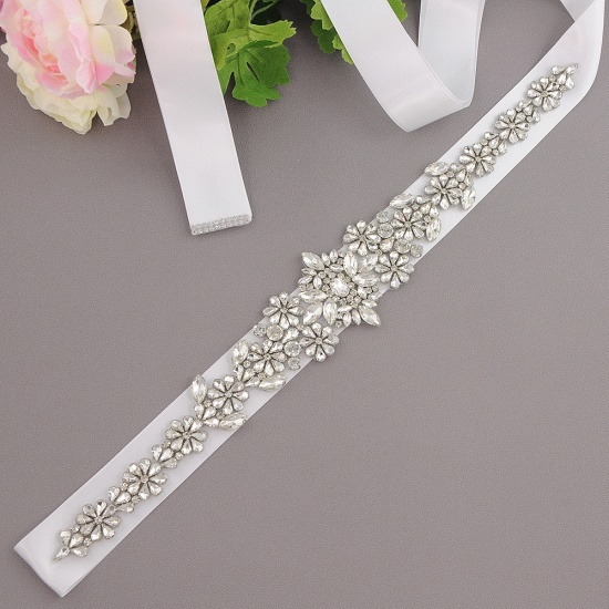 BMbridal Gorgeous Satin Beadings Wedding Sash_1