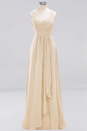 Affordable Chiffon Burgundy Bridesmaid Dress With Spaghetti Straps_14