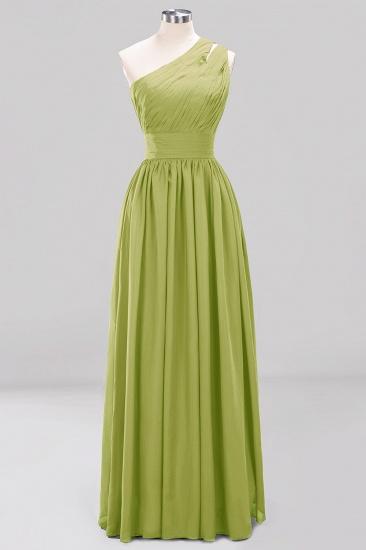 Stylish One-shoulder Sleeveless Long Junior Bridesmaid Dresses Cheap_34