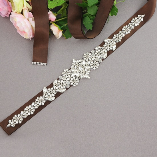 BMbridal Gorgeous Satin Beadings Wedding Sash_6