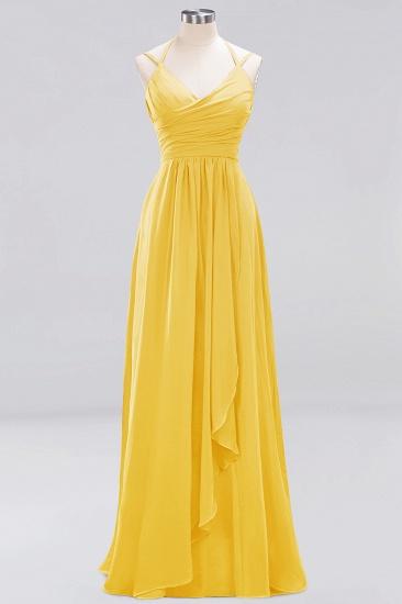 Affordable Chiffon Burgundy Bridesmaid Dress With Spaghetti Straps_16