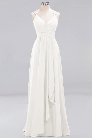 Affordable Chiffon Burgundy Bridesmaid Dress With Spaghetti Straps_2