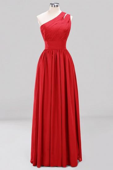Stylish One-shoulder Sleeveless Long Junior Bridesmaid Dresses Cheap_8