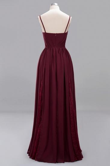BMbridal Elegant Spaghetti Straps Long Bridesmaid Dress Lace V-Neck Maid of Honor Dress_55
