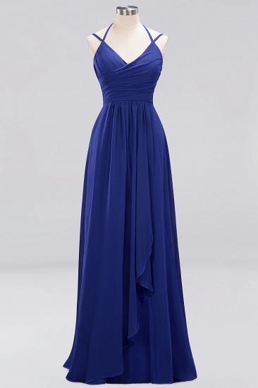 Affordable Chiffon Burgundy Bridesmaid Dress With Spaghetti Straps_25