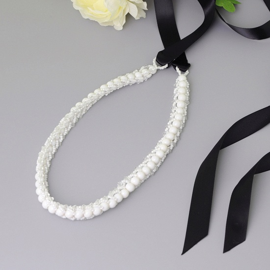 BMbridal Satin Beadings Wedding Sash with Pearls_11