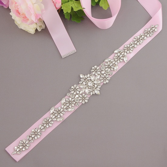 BMbridal Gorgeous Satin Beadings Wedding Sash_3