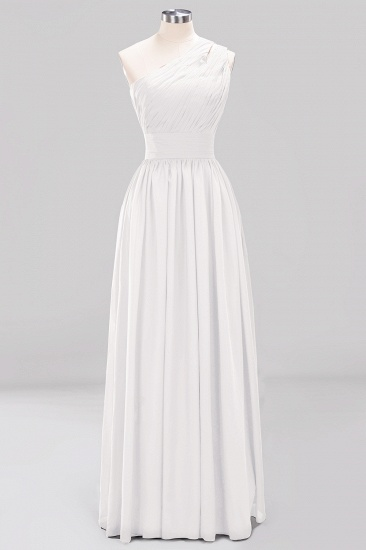 Stylish One-shoulder Sleeveless Long Junior Bridesmaid Dresses Cheap_1
