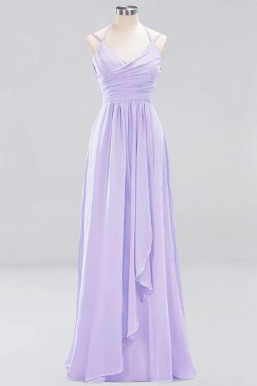Affordable Chiffon Burgundy Bridesmaid Dress With Spaghetti Straps_20