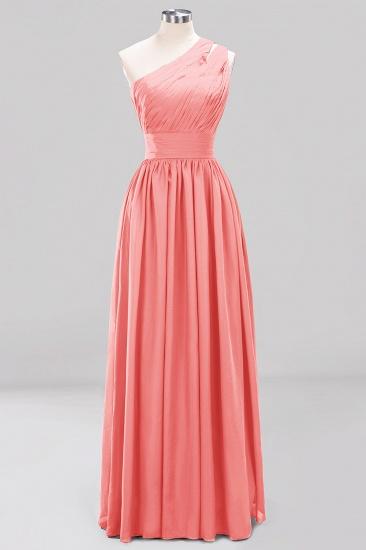 Stylish One-shoulder Sleeveless Long Junior Bridesmaid Dresses Cheap_7