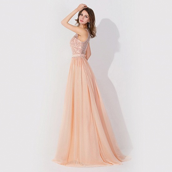 BMbridal A-line Chiffon Tulle Lace Ruffles Bridesmaid Dress_7