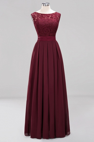 Vintage Sleeveless Lace Bridesmaid Dresses Affordable Chiffon Wedding Party Dress Online_56