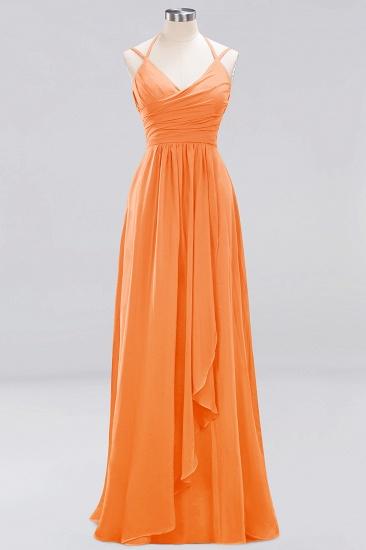 Affordable Chiffon Burgundy Bridesmaid Dress With Spaghetti Straps_15