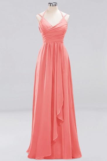 Affordable Chiffon Burgundy Bridesmaid Dress With Spaghetti Straps_7