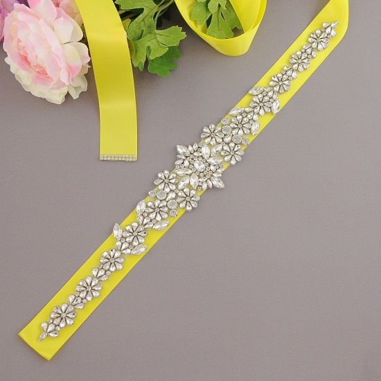 BMbridal Gorgeous Satin Beadings Wedding Sash_8