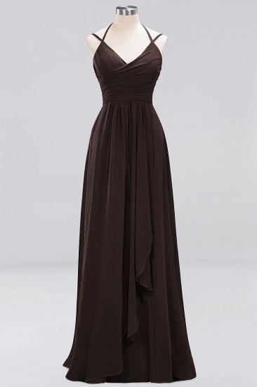 Affordable Chiffon Burgundy Bridesmaid Dress With Spaghetti Straps_11