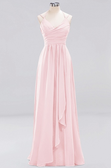 Affordable Chiffon Burgundy Bridesmaid Dress With Spaghetti Straps_3