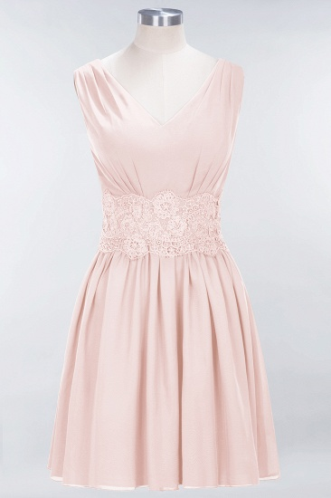 BMbridal Pretty V-Neck Short Sleeveless Lace Bridesmaid Dresses Online_5