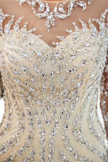 BMbridal Gorgeous Mermaid Jewel Long Prom Dresses Long Sleeves Evening Dresses with Rhinestones_18
