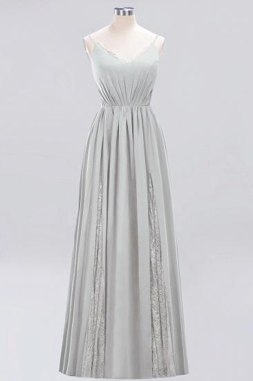 BMbridal Elegant Spaghetti Straps Long Bridesmaid Dress Lace V-Neck Maid of Honor Dress_30
