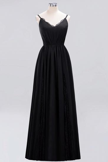 BMbridal Elegant Spaghetti Straps Long Bridesmaid Dress Lace V-Neck Maid of Honor Dress_29