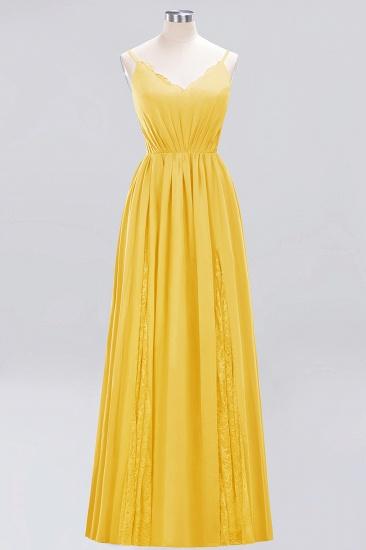 BMbridal Elegant Spaghetti Straps Long Bridesmaid Dress Lace V-Neck Maid of Honor Dress_17