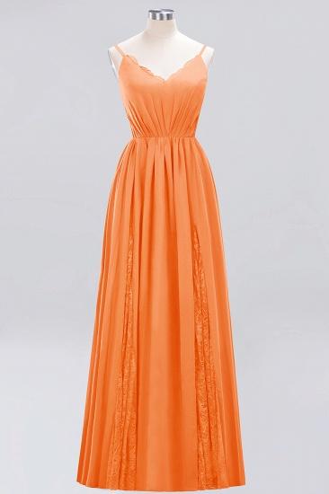 BMbridal Elegant Spaghetti Straps Long Bridesmaid Dress Lace V-Neck Maid of Honor Dress_15