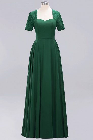 BMbridal Dark Navy Open-Back Long Bridesmaid Dress With Short Sleeves_31