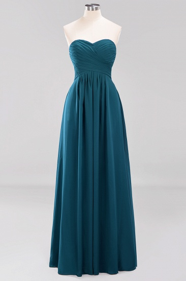 Vintage Sweetheart Long Grape Affordable Bridesmaid Dresses Online_26