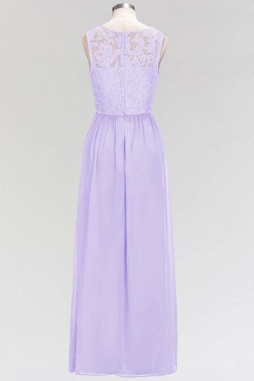 BMbridal Elegant Lace Sleeveless Pleated Lavender Bridesmaid Dresses Online_3