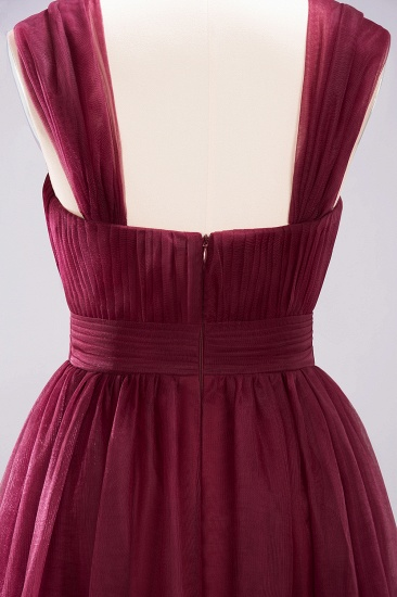 Gorgeous Sweetheart Straps Ruffle Burgundy Bridesmaid Dresses Online_42