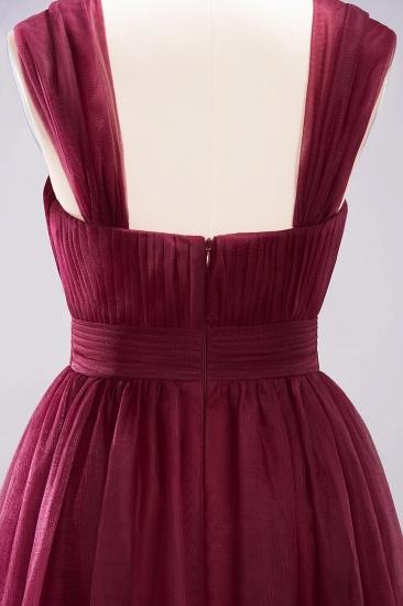 BMbridal Gorgeous Sweetheart Straps Ruffle Burgundy Bridesmaid Dresses Online_42