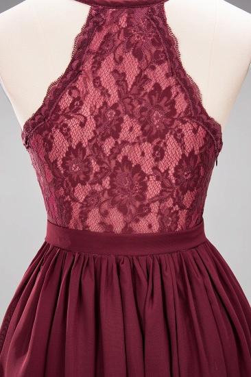 Affordable Chiffon V-Neck Sleeveless Lace Bridesmaid Dress Online_66
