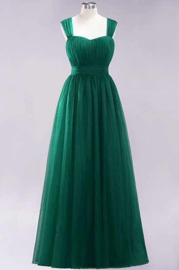 BMbridal Gorgeous Sweetheart Straps Ruffle Burgundy Bridesmaid Dresses Online_30