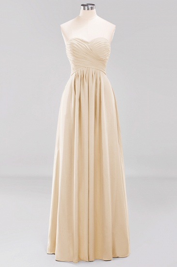 Vintage Sweetheart Long Grape Affordable Bridesmaid Dresses Online_14