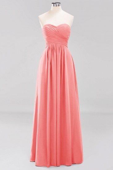 Vintage Sweetheart Long Grape Affordable Bridesmaid Dresses Online_7