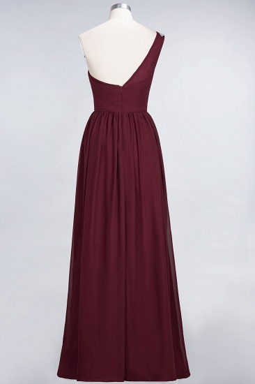 Affordable Chiffon One-Shoulder Ruffle Bridesmaid Dress with Beadings_54