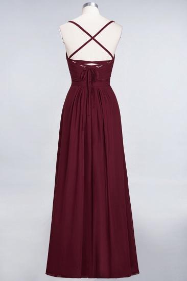 Glamorous Spaghetti Straps Sweetheart Ruffle Chiffon Bridesmaid Dress Online_44