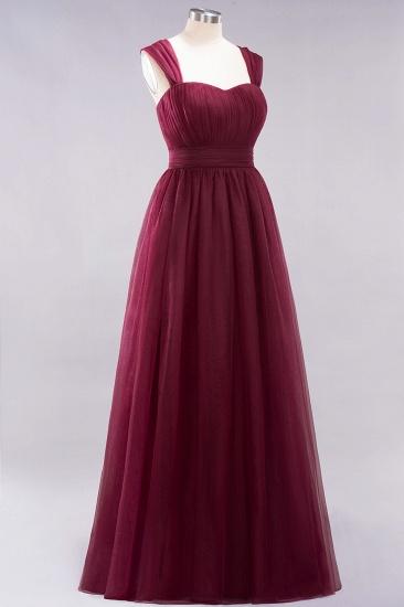 BMbridal Gorgeous Sweetheart Straps Ruffle Burgundy Bridesmaid Dresses Online_39