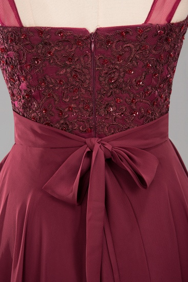 BMbridal Gorgeous Lace Jewel Affordable Pink Bridesmaid Dress with Beadings_8