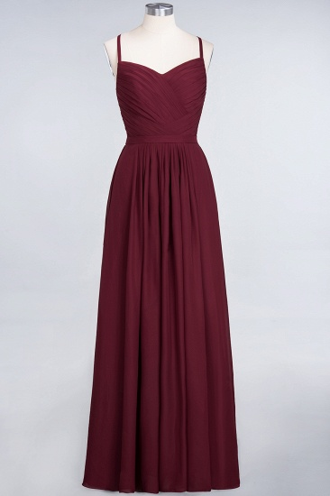 Glamorous Spaghetti Straps Sweetheart Ruffle Chiffon Bridesmaid Dress Online_43