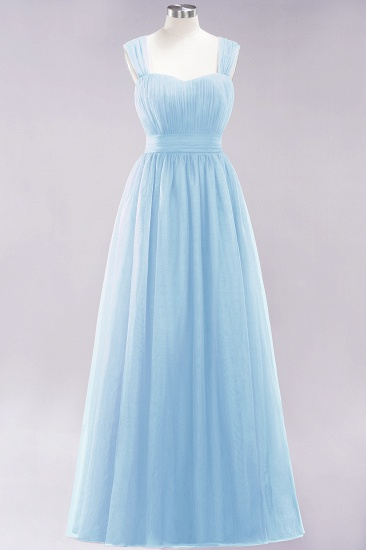 BMbridal Gorgeous Sweetheart Straps Ruffle Burgundy Bridesmaid Dresses Online_22