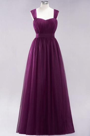 BMbridal Gorgeous Sweetheart Straps Ruffle Burgundy Bridesmaid Dresses Online_19