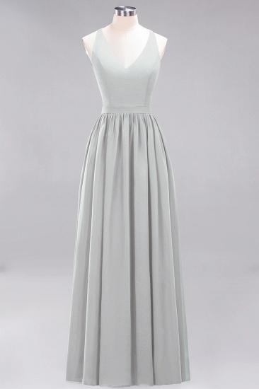 Affordable Chiffon V-Neck Sleeveless Lace Bridesmaid Dress Online_30