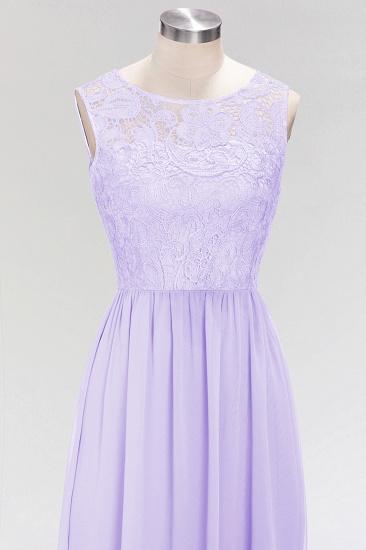 BMbridal Elegant Lace Sleeveless Pleated Lavender Bridesmaid Dresses Online_4