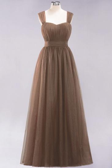 BMbridal Gorgeous Sweetheart Straps Ruffle Burgundy Bridesmaid Dresses Online_12