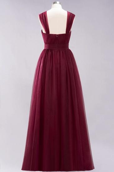 BMbridal Gorgeous Sweetheart Straps Ruffle Burgundy Bridesmaid Dresses Online_38